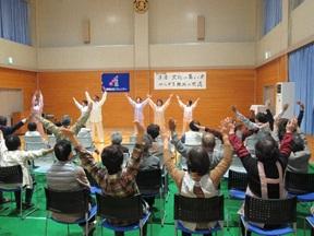 サークル団体のステージ(太極拳)