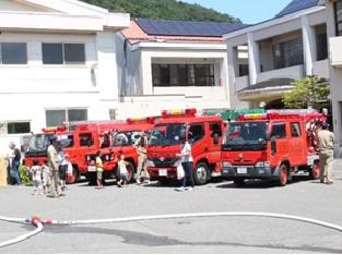 消防車の試乗体験